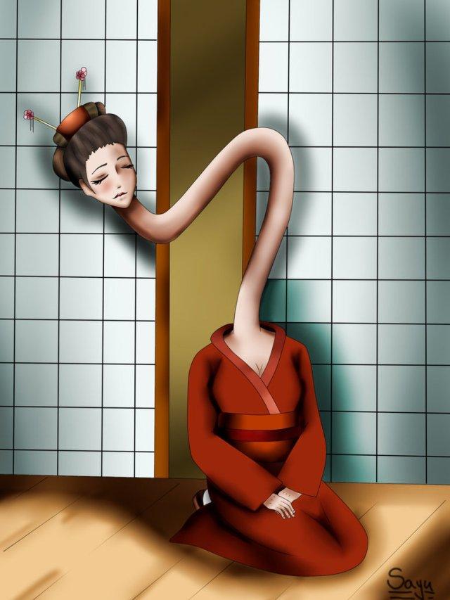 Image result for japanese ghost Rokurokubi