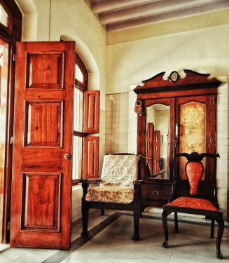Old fashioned wooden furniture