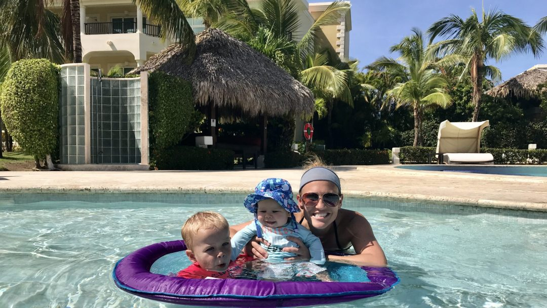 Hanging out in the baby pool at The Reserve at Paradisus Punta Cana.