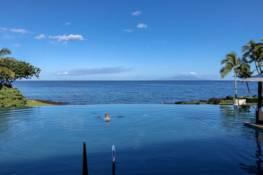 Adults-only infinity pool at Wailea Beach Resort by Marriott