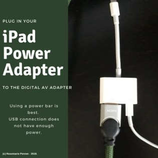 Plug in power adapter to AV adapter