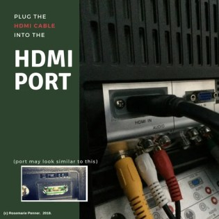Plug into the HDMI Port