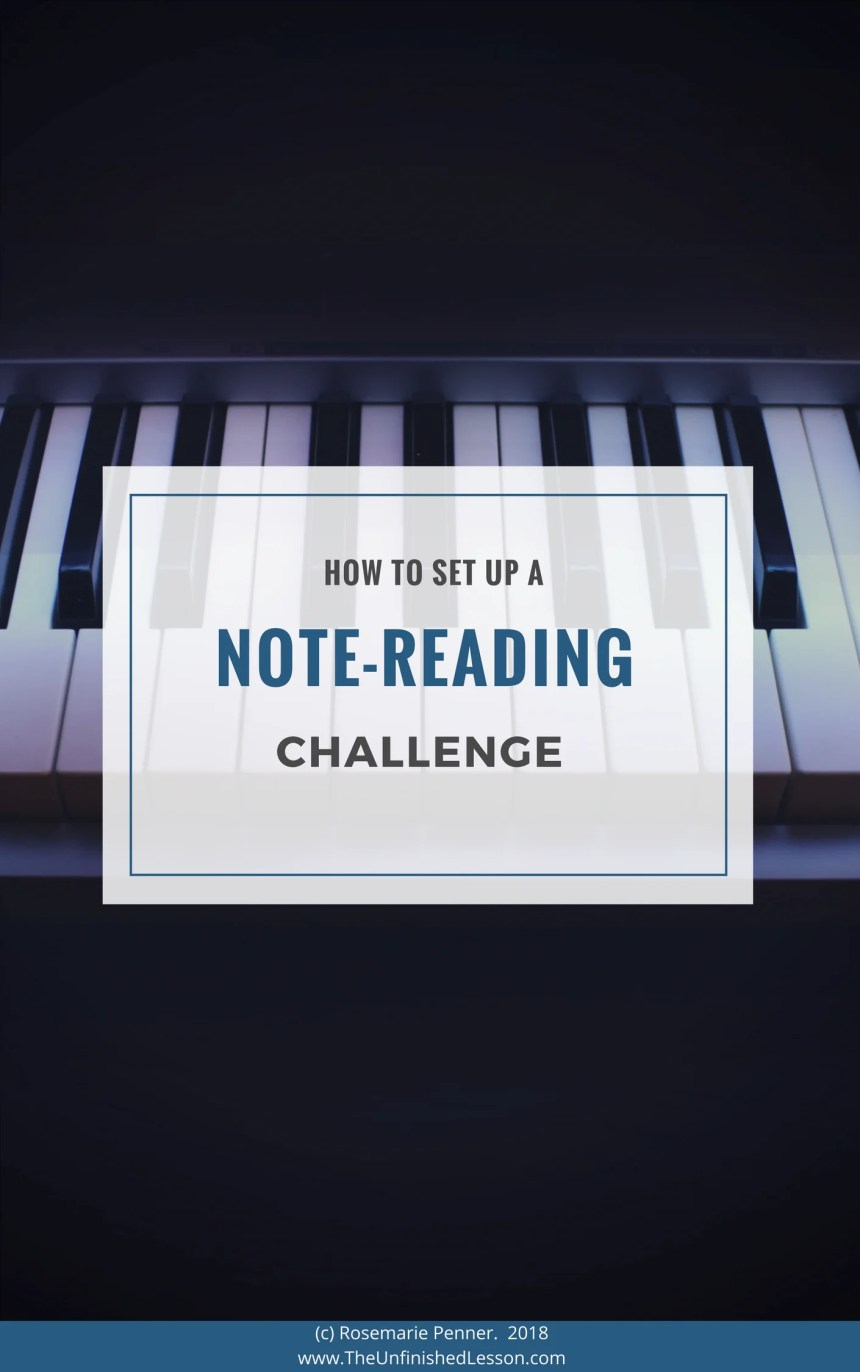 Setting Up a Note-Reading Challenge