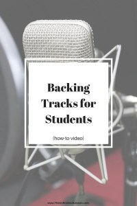Backing Tracks for Students