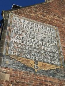 wall advertisement Dunfermline