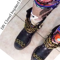 CHANEL Inspired Boots - DIY