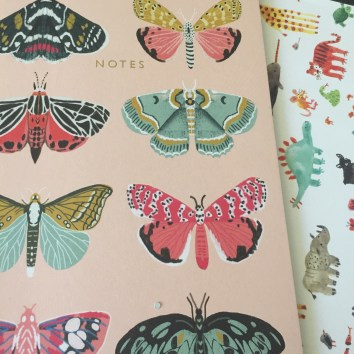 The lined notebook has pretty butterflies on it, perfect for spring!