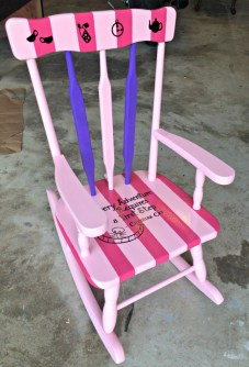 Painted Rocking Chair Makeover