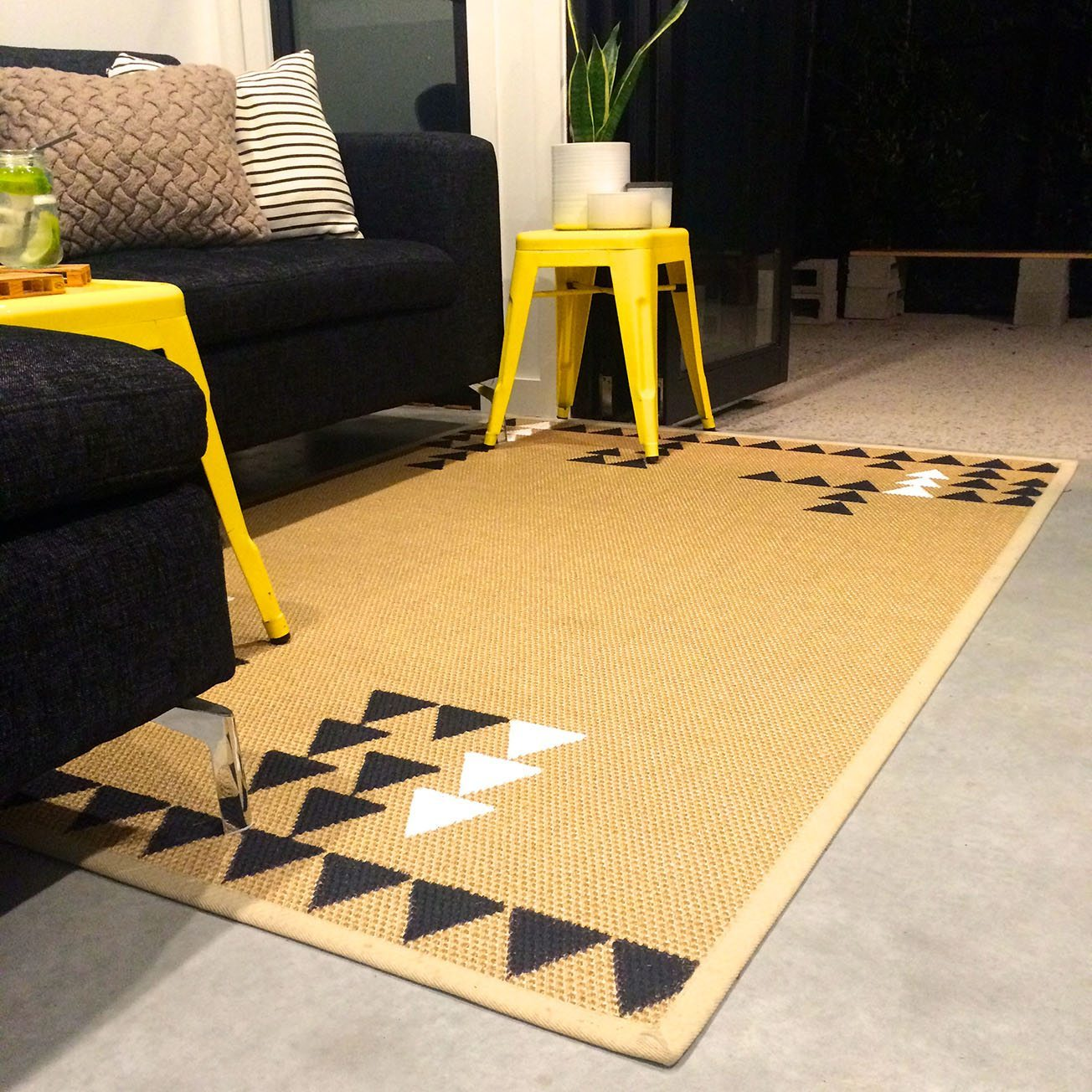 triangle DIY rug