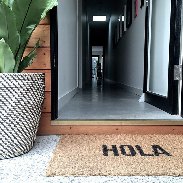 Ikea hack DIY word doormat