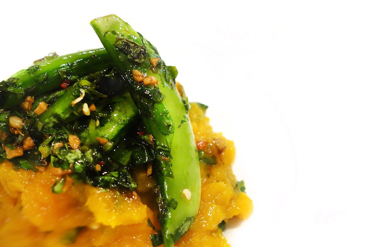 feature super easy quick healthy pumpkin basil spinach mash with lava salt and pumpkin seeds