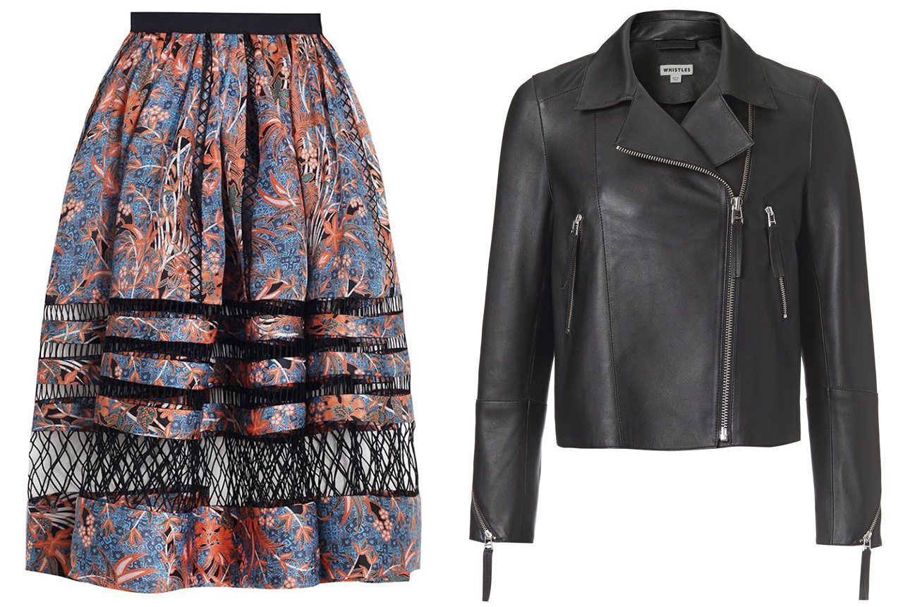 buying something expensive then wearing it heaps zimmerman skirt whistles leather jacket