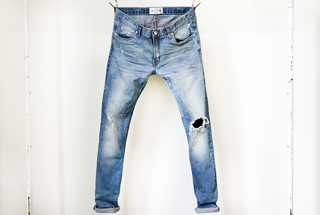 flux faded blue ripped denim jeans