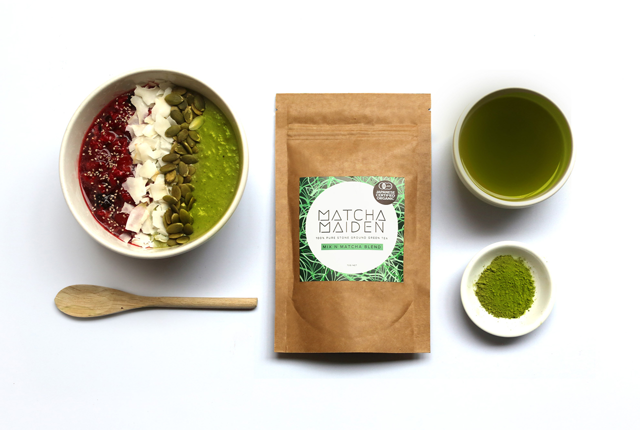 matcha maiden stone ground green teat muesli