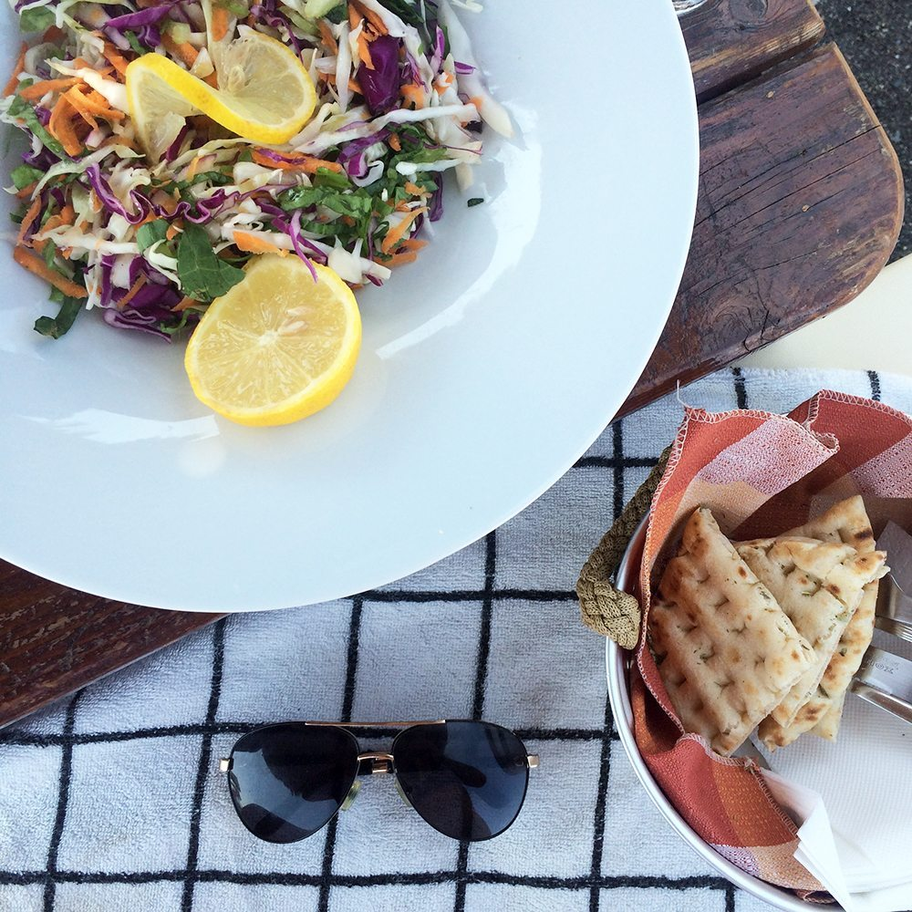 beachside seafood perissa beach santorini