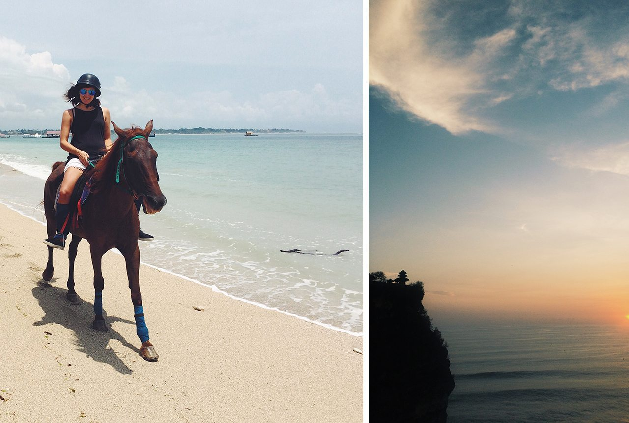 Uluwatu horse riding beach and temple tour Bali