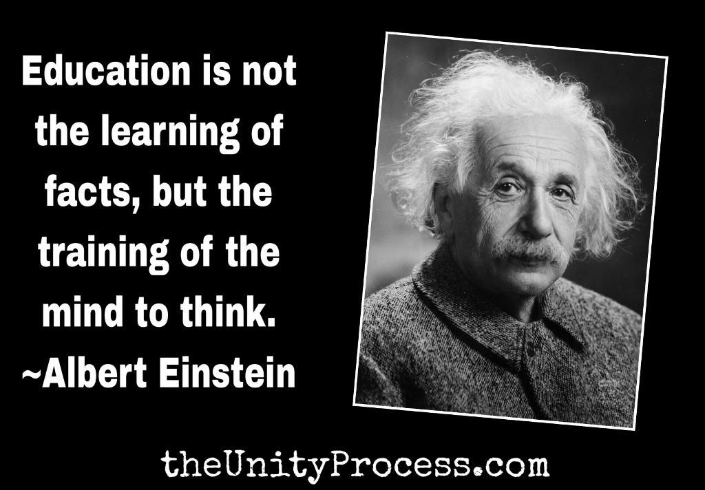 Einstein On Education The Unity Process