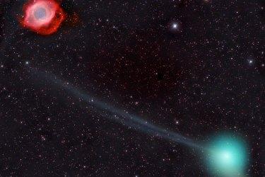 The Universe Comet Helix Hemmerich