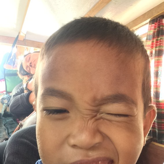 Magtubo (his nickname) is a six-year old kid from Barangay Concepcion, Arteche, Eastern Samar, an isolated place where we go for a project!