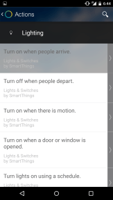 Smartthings Lighting Actions