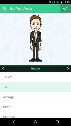 Bitmoji Height