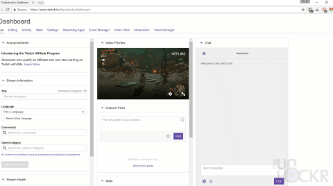 Preview Twitch Live Streaming