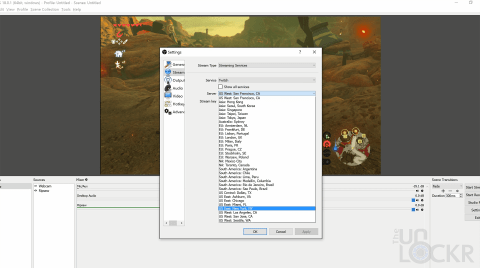 Select Geo for Twitch Server