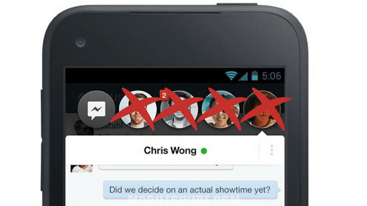 How to Disable Chat Heads in Facebook Messenger (Because It's Evil)