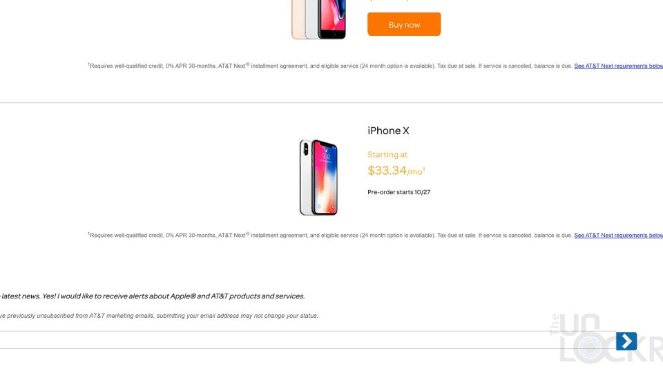 iPhone X Monthly Price