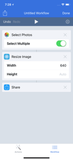 Drag Share to Workflow