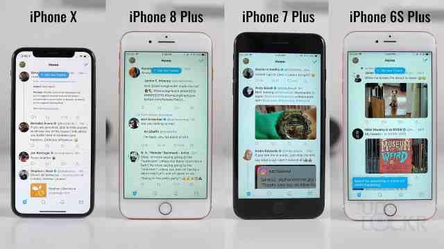 iPhone X vs 8+ vs 7+ vs 6S+ Speed Test
