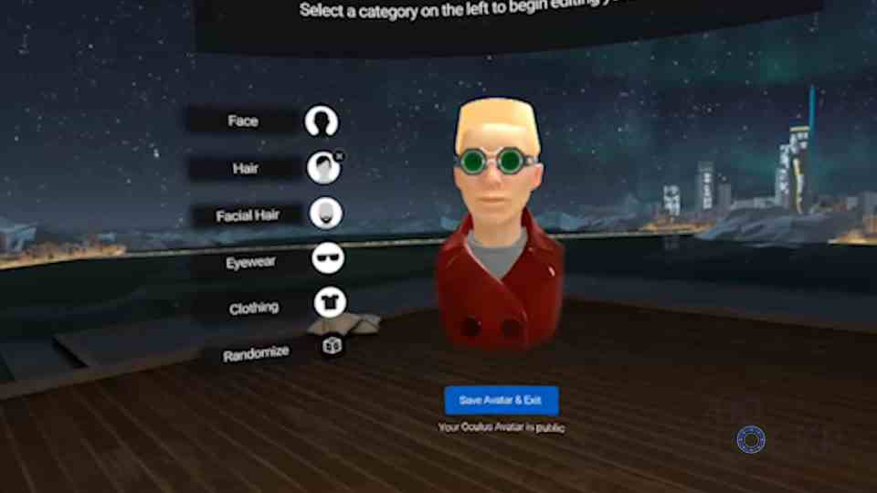 Oculus Go Avatar