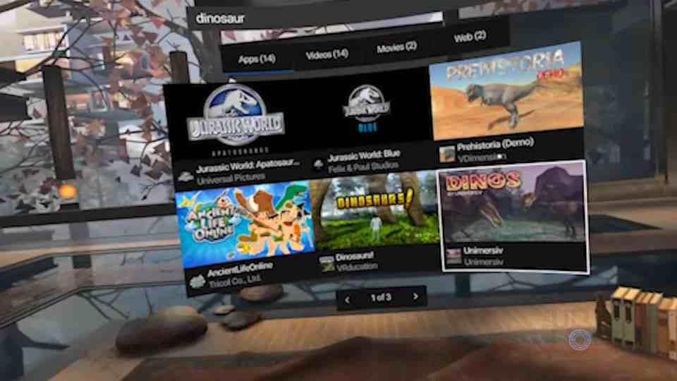 Oculus Go Search