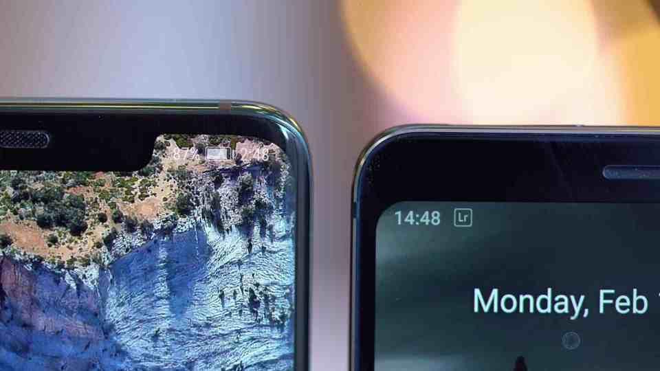 Mate 20 Pro vs Nokia 9 Bezel