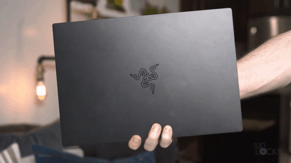 Holding the Razer Blade Stealth