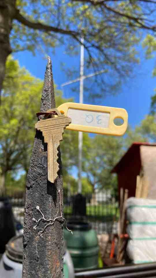 iPhone SE sample image of a key