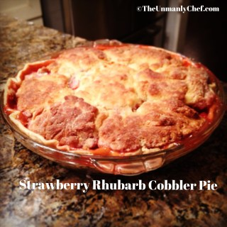 Strawberry Rhubarb Cobbler Pie