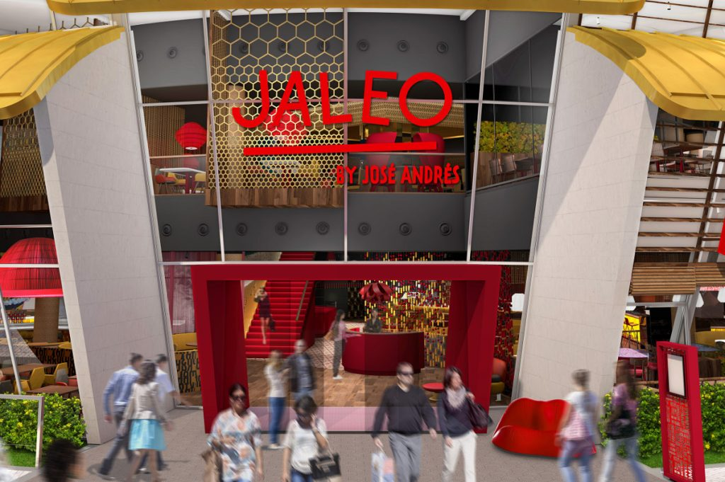 Jaleo Disney Springs entrance rendering closeup