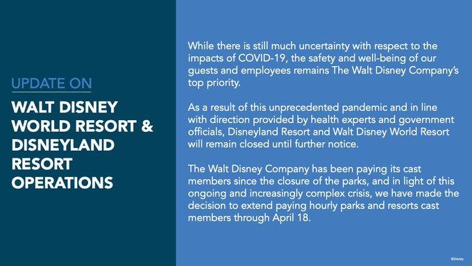 Walt Disney World Covid-19