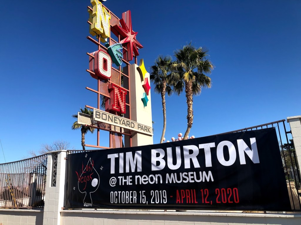 Neon Museum Tim Burton Lost Vegas sign