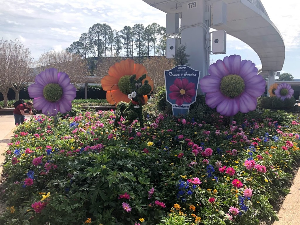 2020 Epcot Flower & Garden Festival Pluto topiary entrance