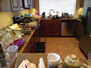 UNpacking a Kitchen: During