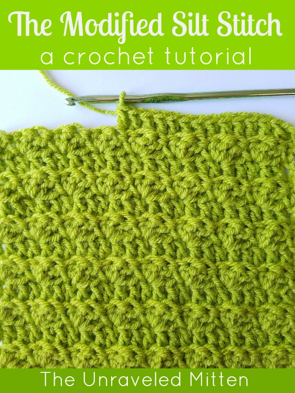 Modified Silt Stitch Crochet Tutorial