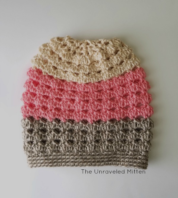 Neapolitan Crochet Slouchy Hat