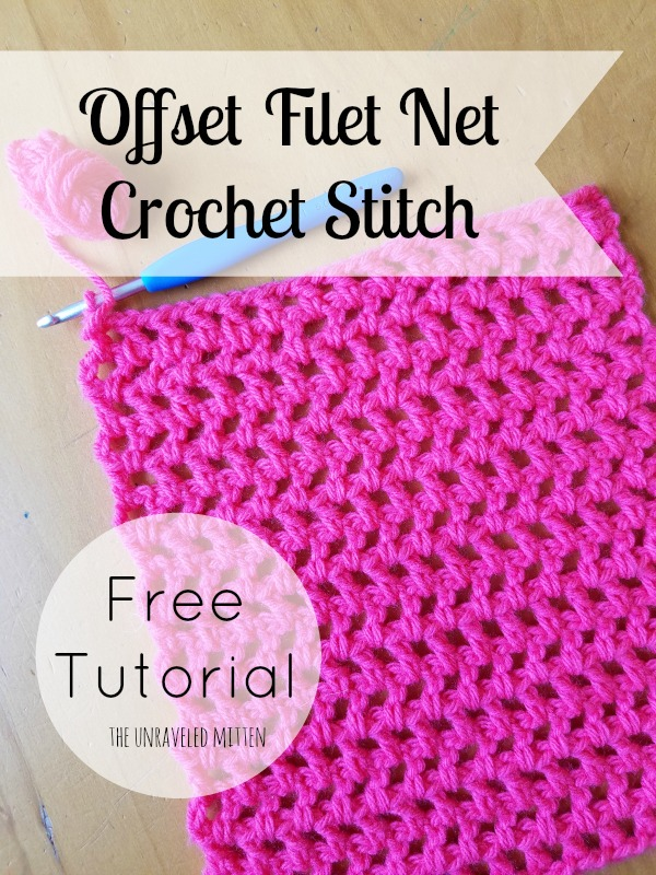 Offset Filet Net Stitch: A Crochet Tutorial