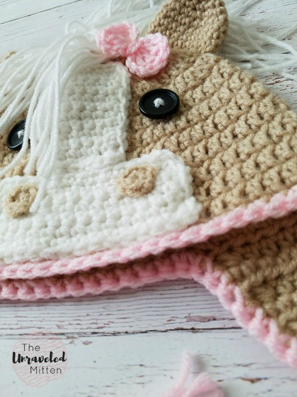 Callie Horse Hat | Free Crochet Pattern | The Unraveled Mitten | Baby, Toddler, Child and Adult Sizes