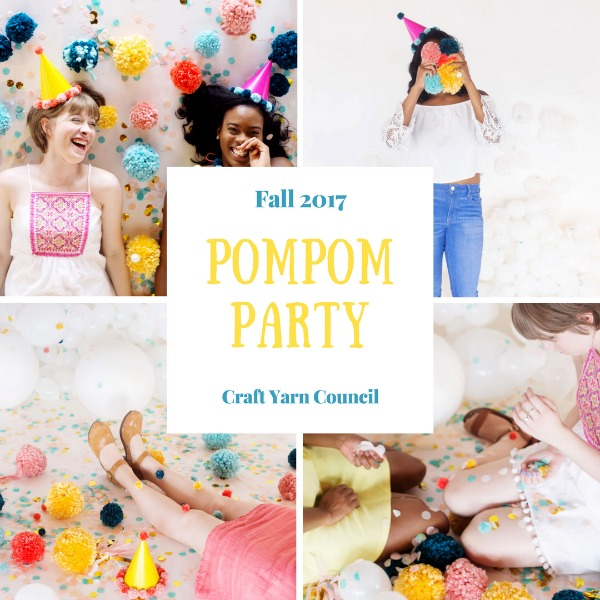 Craft Yarn Council Pompom Party on The Unraveled Mitten