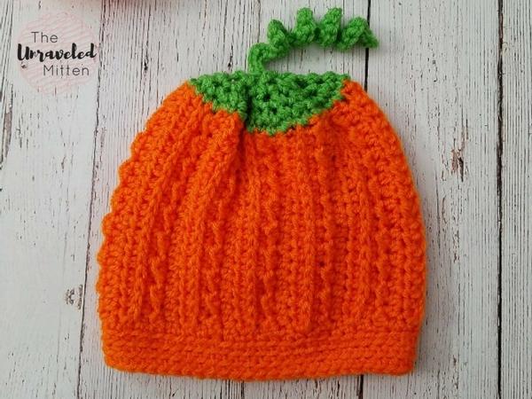 Pumpkin Hat   Free Crochet Pattern   The Unraveled Mitten