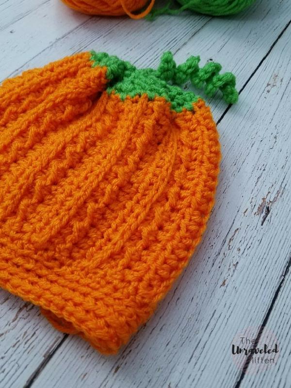 Crochet Pumpkin Hat Pattern The Unraveled Mitten