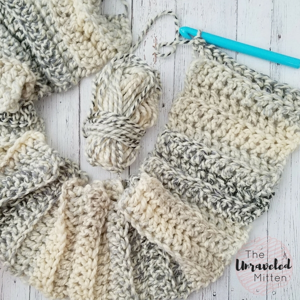 Easy Crochet Super Scarf Free Crochet Pattern | The Unraveled Mitten